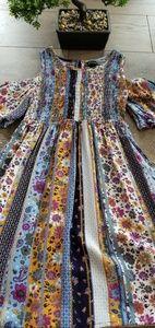 Art Class Girls Boho Peek a boo shoulder dress